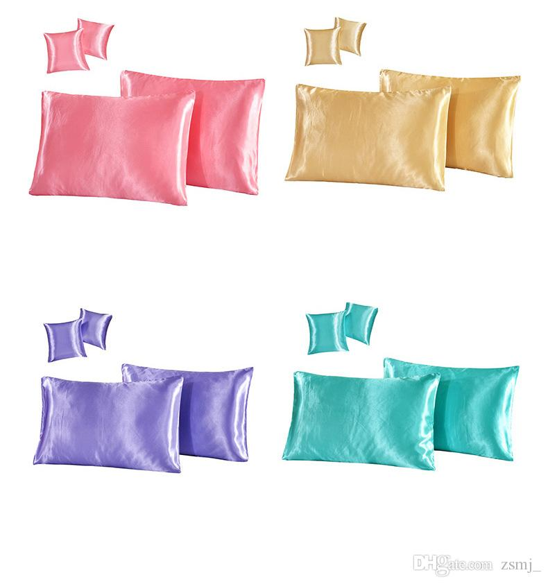 Artificial Silk Household Pillow Cushion Covers Bedroom Set ...