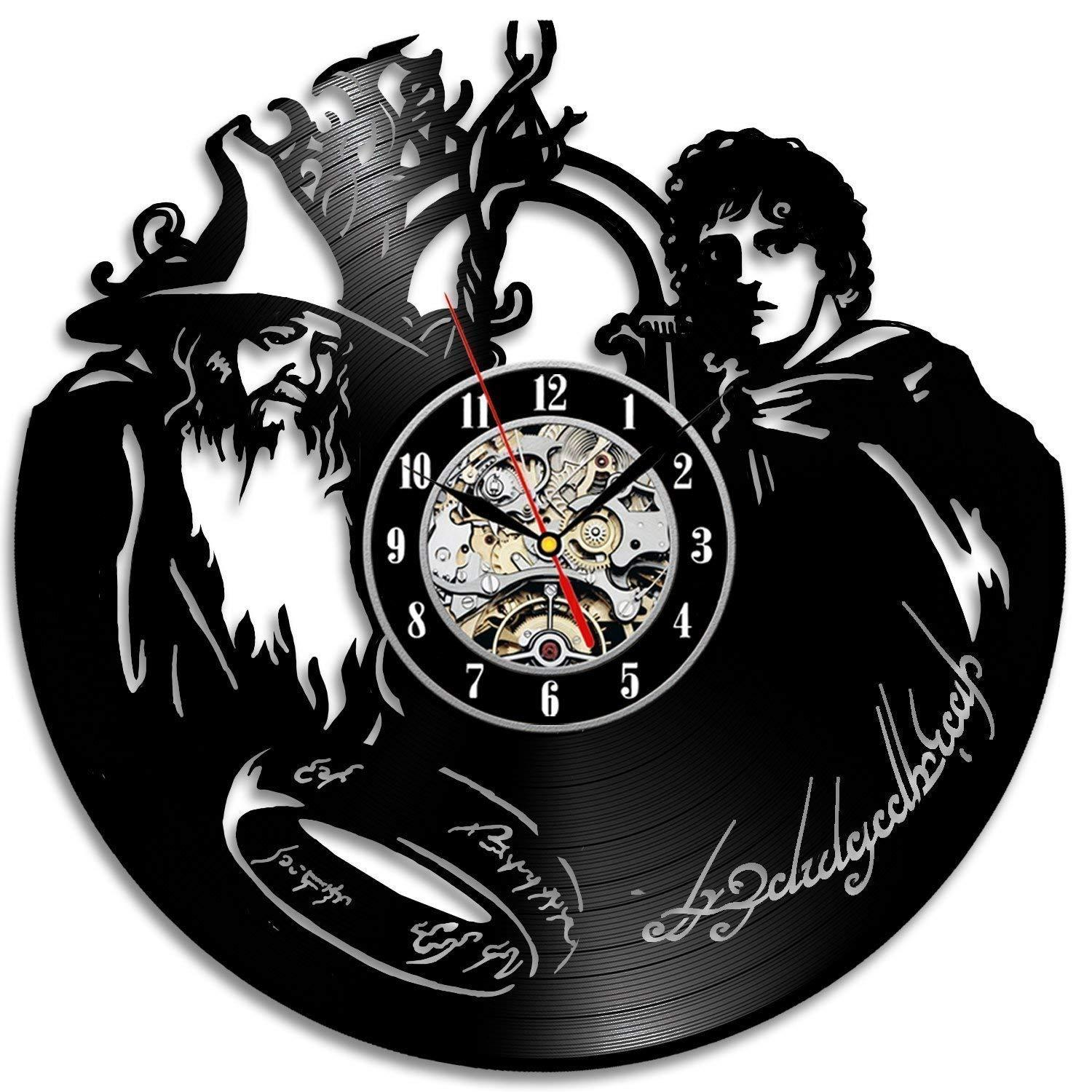 diy gift for clock change 2018 lord of the rings fan vinyl clock