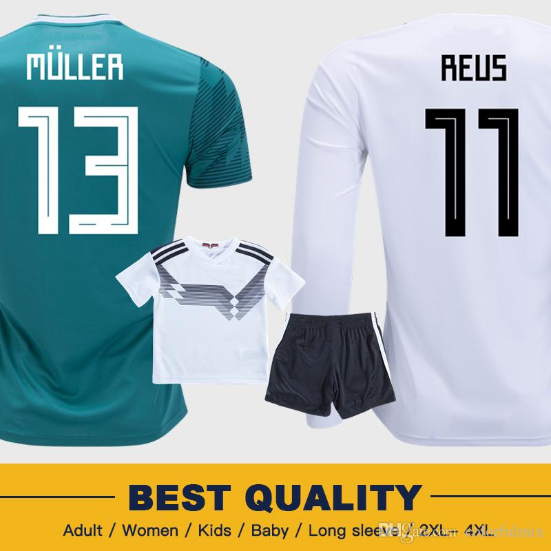 4a69f0a07 2019 MULLER OZIL GERMANY Soccer Jersey DRAXLER 2018 WORLD CUP FANS PLAYER  VERSION KROOS HUMMELS WERNER Jersey Football Kit Shirt Alemania Women From  ...