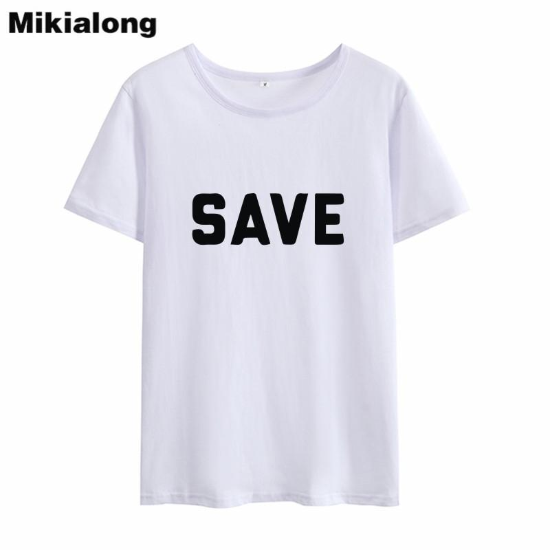 Women S Tee Mrs Win Save Tumblr T Shirt Women O Neck Letter Printed