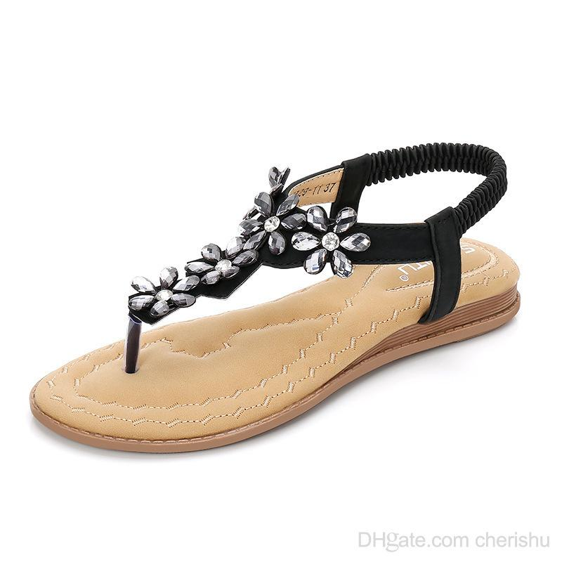 e59ada38ae77e8 2018 New Women Designer Flip Flops Summer Fashion Woman Sandals Flat Shoes  Sandy Beach Sandals For Women Ladies Sandals Girls Sandals From Cherishu