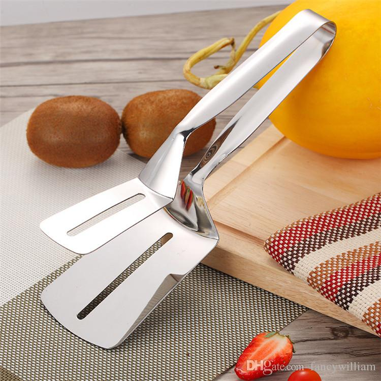 Nueva llegada brillante polaco 304 pinzas de acero inoxidable, pinzas de cocina multifuncionales, pinzas de acero inoxidable de buena calidad