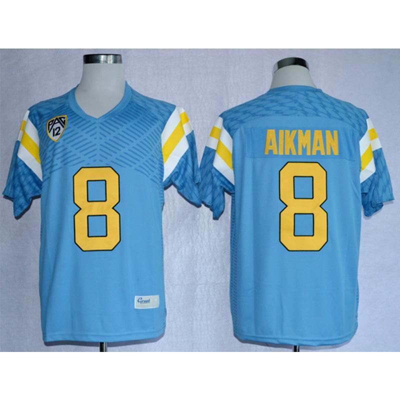 the best attitude 6b7a2 b0769 Mens UCLA California Bruins Troy Aikman Stitched Name&Number American  College Football Jersey Size S-3XL