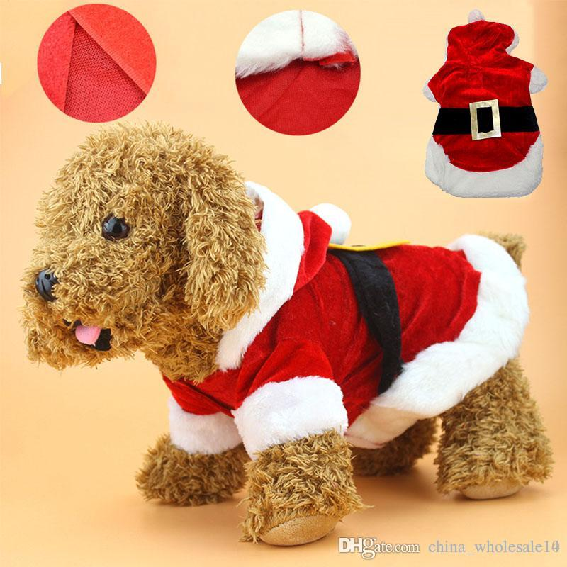2019 Christmas Dog Clothes Santa Costume Pet Dog Cat Clothes Coat Clothing  Cute Pet Christmas Outfit For Small Dog Cat From China_wholesale10, ... - 2019 Christmas Dog Clothes Santa Costume Pet Dog Cat Clothes Coat