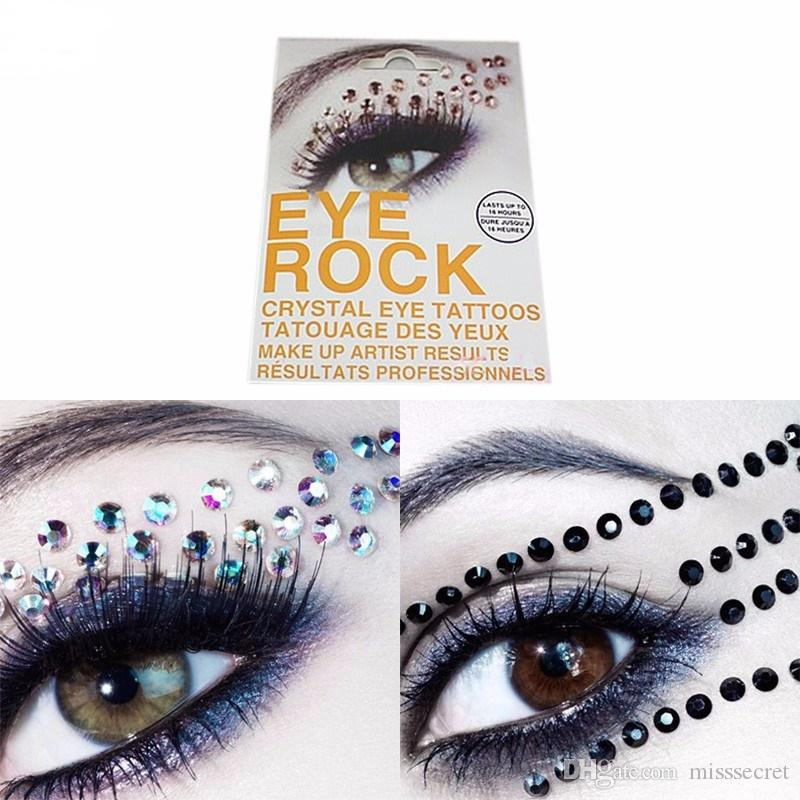 New 3D Flash Eye Temporary Tattoo Stickers Rhinestone Tattoo Supplies  Glitter Eyeshadow Adesivos Beauty Maquiagem 6 Styles Tattoo Supplies Tattoo  Kits ... ee75b7972c08