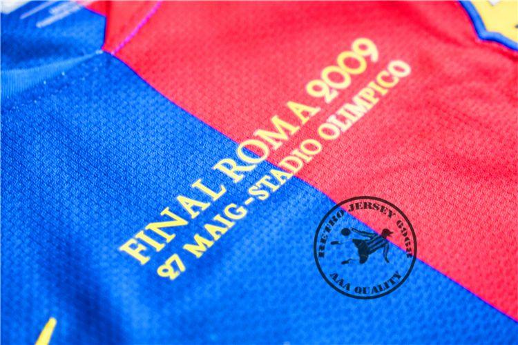 2008-09 home messi xavi henry puyol david villa retro jersey match deatils player version