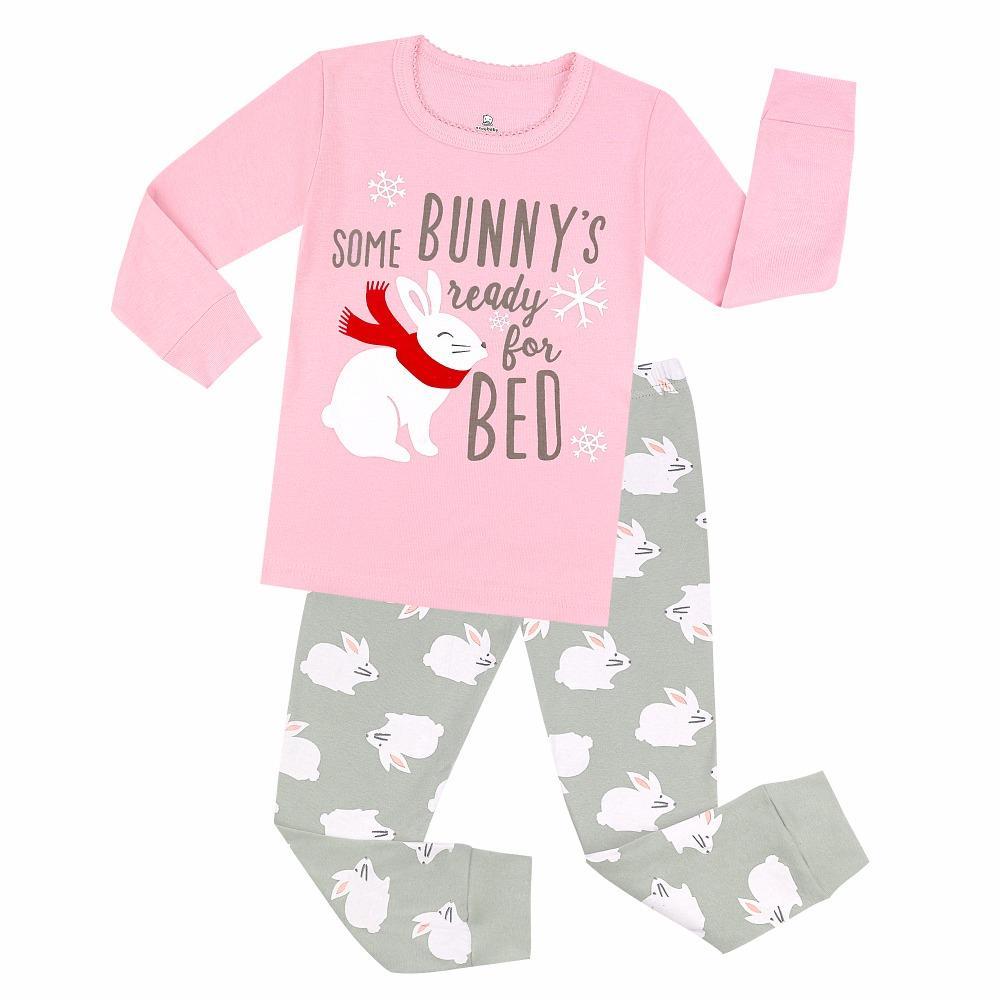2fad6ed1a Girls Rabbit Sleepwear For Easter Boys Spacecraft Airplane Pajamas ...