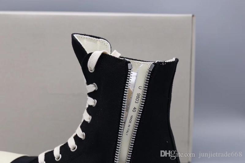 18ss Orijinal TPU Kokulu taban Toprak Tonu Vegan yüksek üst tuval sneaker trainer çizmeler