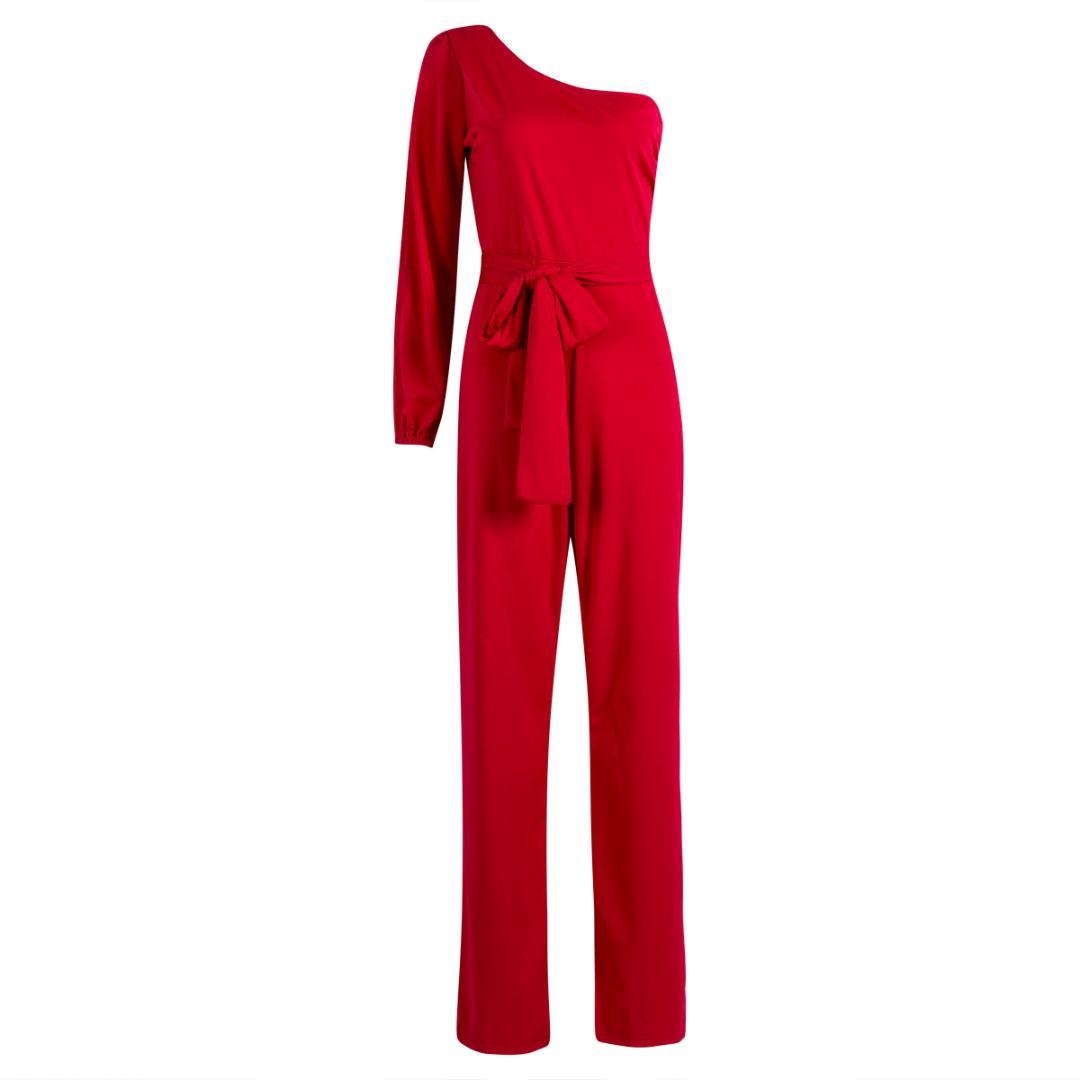 47c6a88cfec Women Summer Clubwear Playsuit Jumpsuit Solid One Shoulder Long Trousers  Jumpsuits Cheap Jumpsuits Women Summer Clubwear Playsuit Jumpsuit Online  with ...