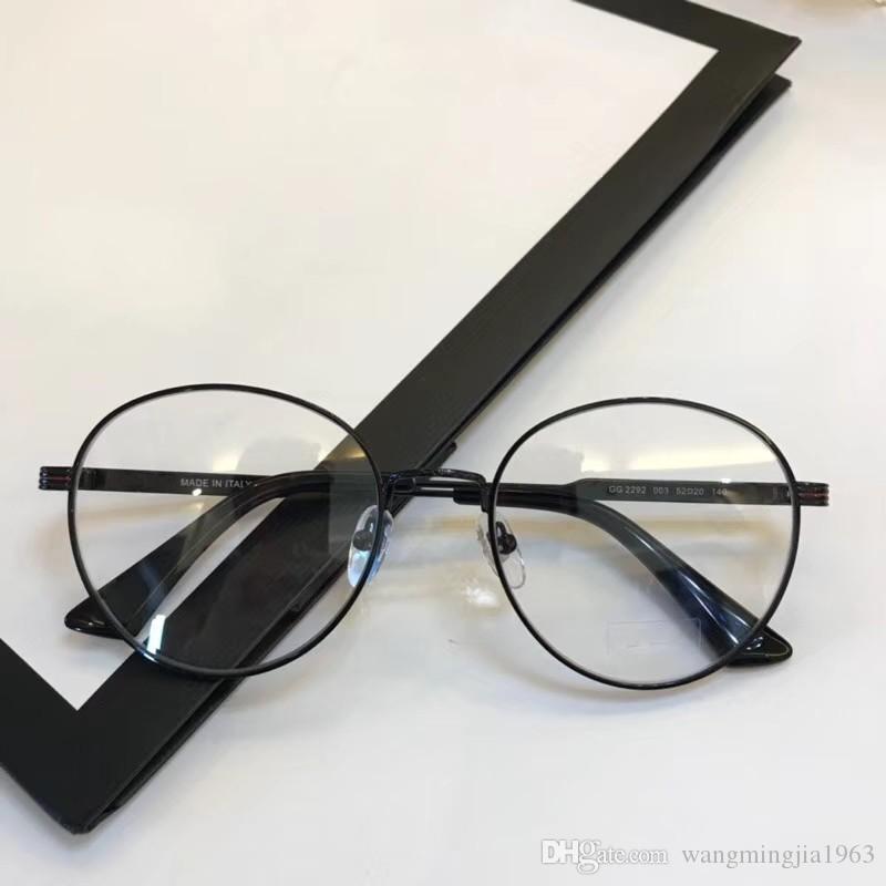 ea894c059e87 2019 New Eyeglasses Frame Women Men Brand Designer Eyeglass Frames Designer  Brand Eyeglasses Frame Clear Lens Glasses Frame Oculos 2292 With Case From  ...
