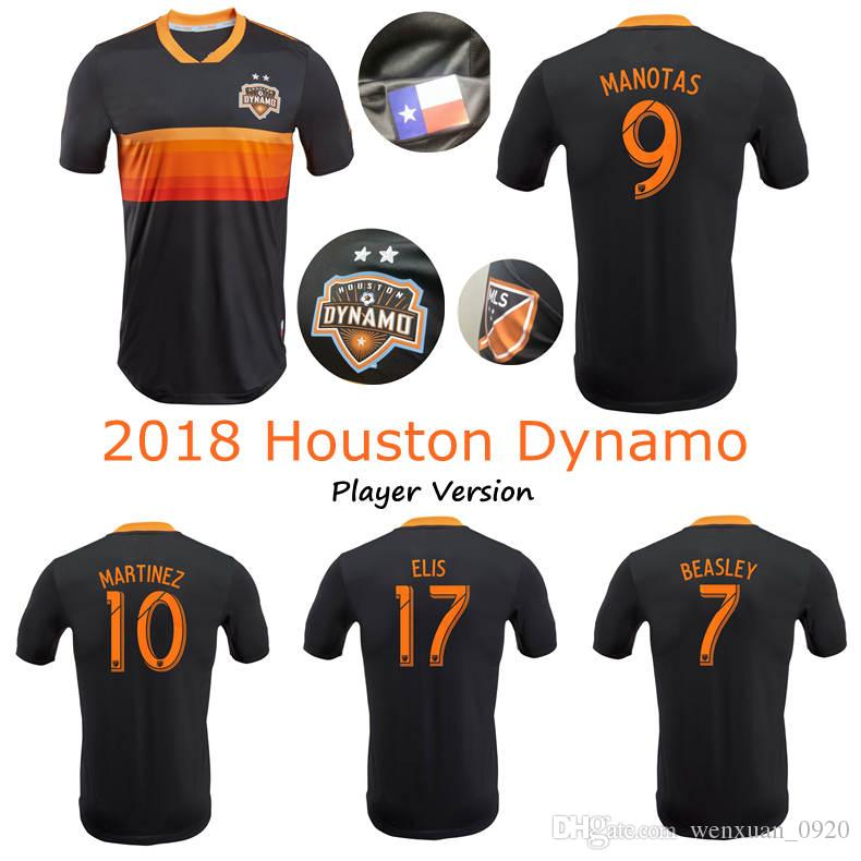 newest 49d1f 8e6c1 Player version 2018 2019 Houston Dynamo Jersey Martinez Manotas Elis  Beasley Cabezas Football Shirt 18 19 Dynamo away soccer Jersey