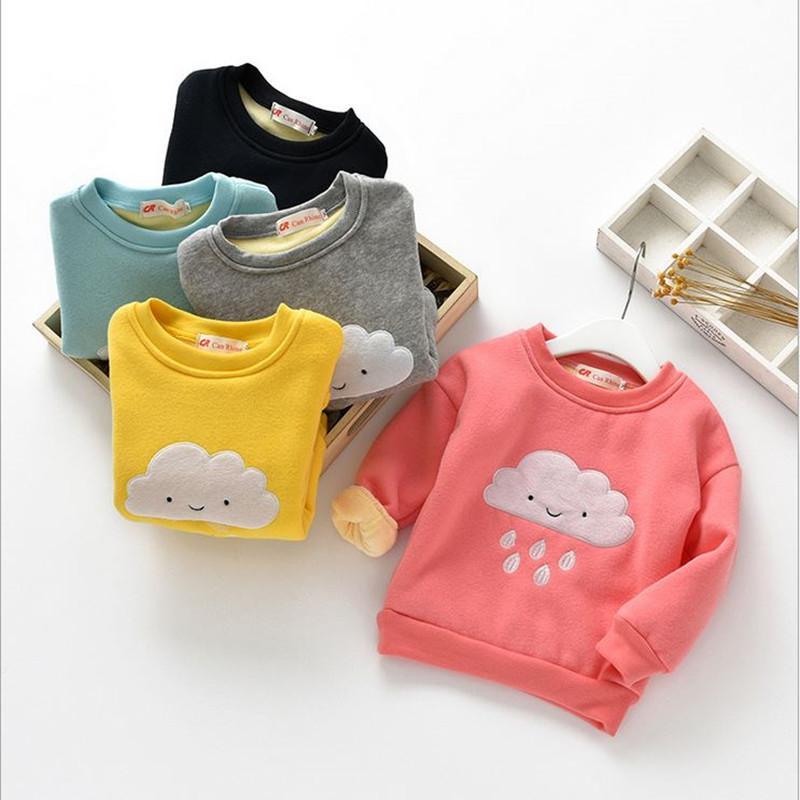 c1d77ac6d Winter Kids Boys Girls Christmas Sweater Baby Plus Velvet Thick ...