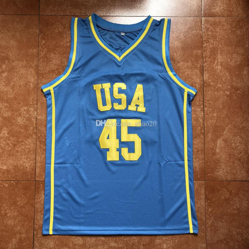 bf17a6178 adsmoney 3 colors mens exquisite star pattern jersey set all star usa  training basketball jersey suit  2018 45 donovan mitchell all star team usa  throwback ...