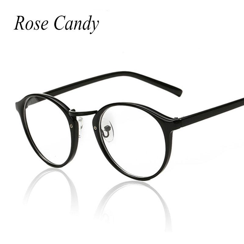 2018 Rose Candy Vintage Oval Glasses Frame Small Size Men Women ...
