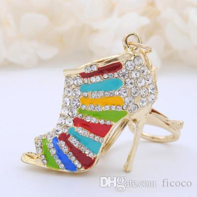 Bling Handbag Bulk Keychain Bag Jewelry Car Acce 7 Accessories Heels Mothers Phone Colors Day Luxury Lots For Diy High Pendant Gift VSUzMp