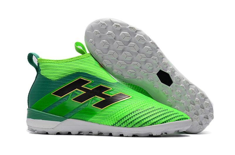 Top quality nero bianco turbo compresse Messi scarpe da calcio 100% originale ACE Tango 17+ Purecontrol TF / IC scarpe da calcio bambini al coperto
