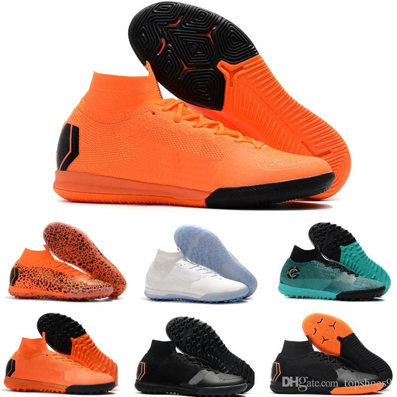 90d40300f65 2019 Kids Brand Indoor Mercurial Superfly SuperflyX KJ VI 360 Elite Ronaldo  CR7 IC TF Mens Women Boys Soccer Shoes Cristiano Football Boots From  Topshoes9