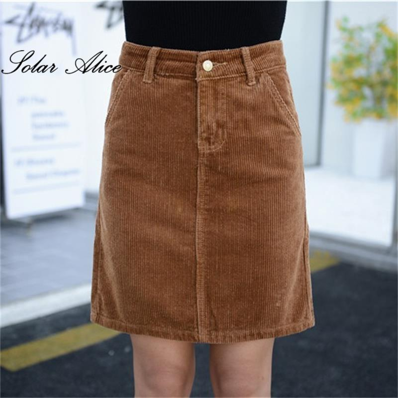 f30d86f15dae2b 2019 New Arrival 2017 Women Summer Autumn Corduroy Skirt Girls Plus Size  Straight Knee Length Skirt Large Size S 9XL From Vincant, $38.47 |  DHgate.Com