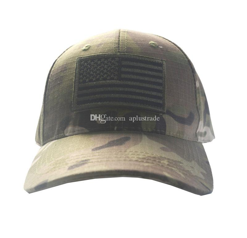 Army Camouflage Tactical Cap Bundle With USA Flag Patch Mens Baseball Cap  Outdoor Hunting Fishing Hat Kangol Baseball Caps From Aplustrade e50cc5a7cd6