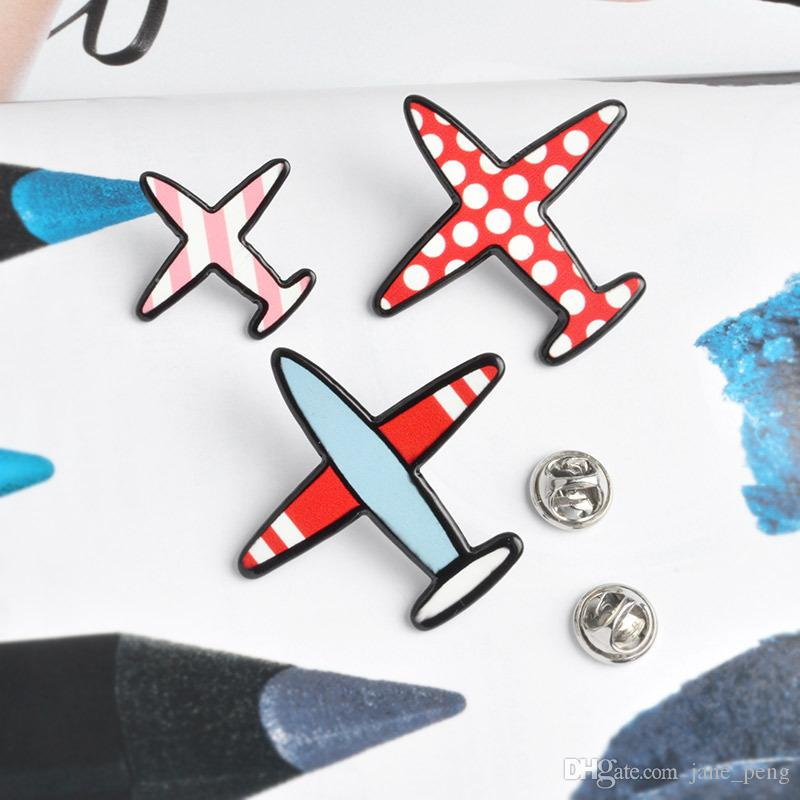 Korea Style Acrylic Helicopter Brooches Pins Set USA Flag Print Suit Shirt Lapel Pin Hat Backpack Accessories Wholesale Fashion Jewelry