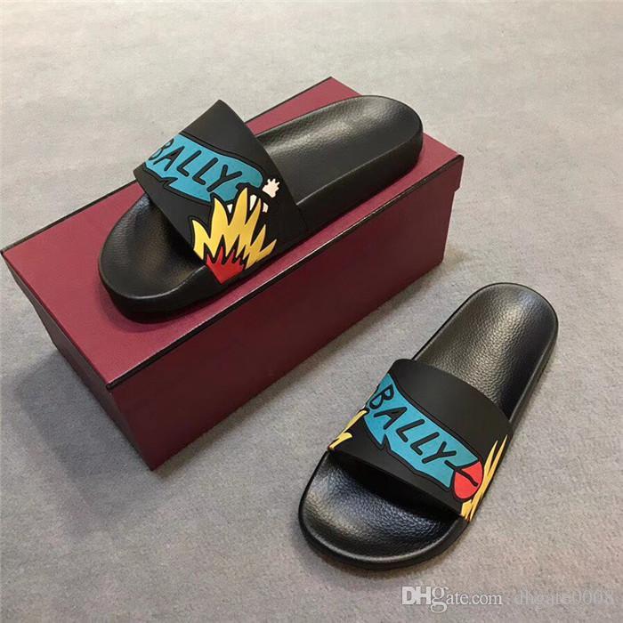 2018 designer slides luxury brand men sandals luxury slippers flip