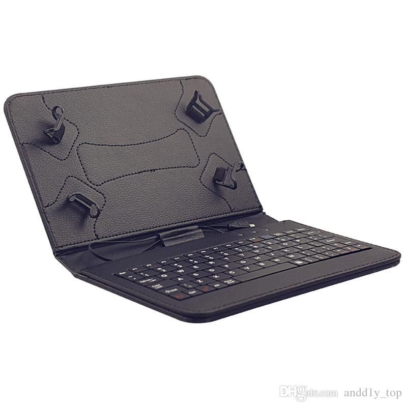"""7"""" Inch Mirco USB Keyboard Case PU Leather Tablet Stand Cover Cases Foldable Folding Folio for 7 Inch Tablet PC"""