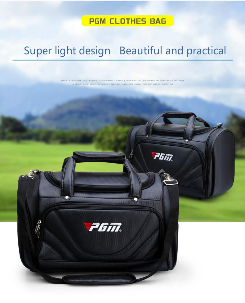 PGM Golf Clothes Bag Men PU Ball Package Multi-functional Clothes Bag Super  Capacity Golf Bags Cheap Golf Bags PGM Golf Clothes Bag Men PU Ball Package  ... 6282e22cbab24