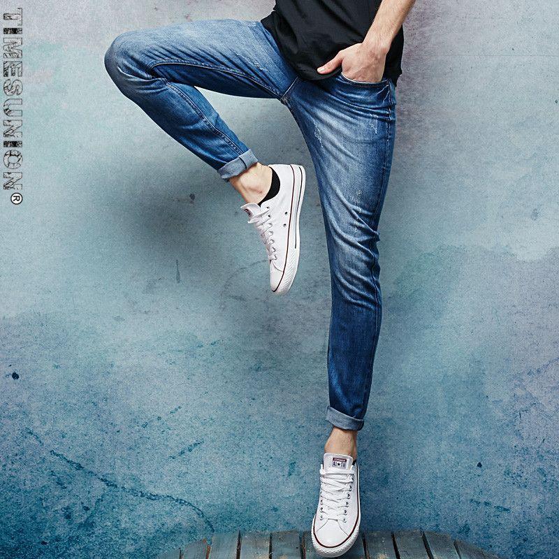 Acquista Timesunion Skinny Jeans Uomo Moda Casual Jeans Uomo Brand New Denim  Pantaloni Top Quality Sottili Pantaloni Elasticizzati 28 38 A  54.87 Dal ... eee3635e9f7b