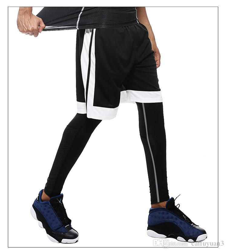 2018 UABRAV Men Warmer Sport Pants Hot Fitness And Crossfit Skinny Pants Black Running Pants Jogger Sportswear Compression Sweatpants