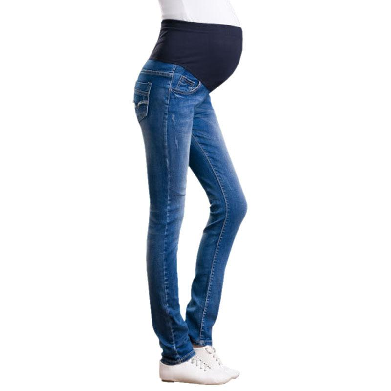 86de32fcf496e Elastic Waist Denim Cotton Maternity Jeans Pants For Pregnancy Clothes Pregnant  Women Legging Autumn Winter 2017 Plus Size Maternity Jeans Pants Maternity  ...