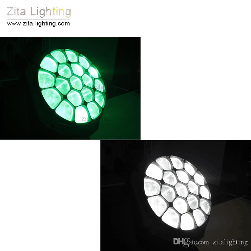 Zita Lighting LED Moving Head Lights Bee Eye Zoom Beam Stage Lighting RGBW Wash 19X15W DMX512 DJ Disco Wedding Party Dance Lighting Effect