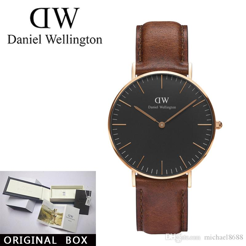 8882ba1cb12db Wholesale Famous Brand Daniel Wellington S WATCHes Fashion D W Nylon Strap  Style 36mm Silver Womens Watches With Gift Box Relojes Bracelet Sports  Watches ...