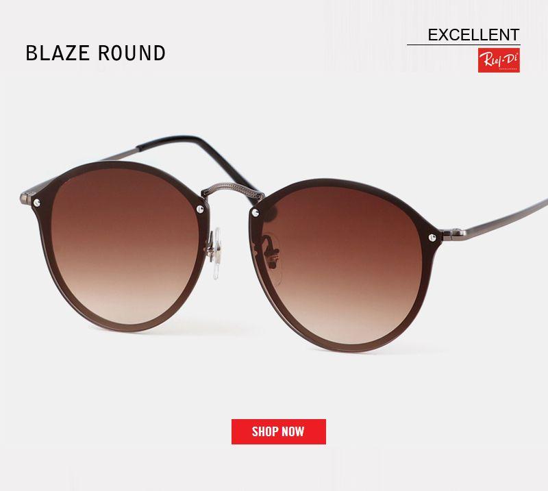 f0b475ba63ee7 Compre 2018 Moda Tendência BLAZE ROUND Estilo Óculos De Sol Do Vintage  Retro Design Da Marca Cor De Flash Espelho Uv400 Óculos De Sol Mulheres  Oculos De Sol ...