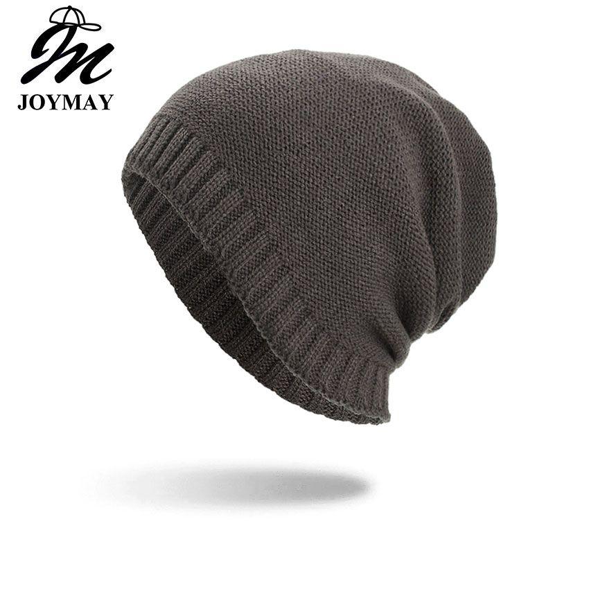 2ac1736d4 Joymay Two way Wearing Winter Beanies Hat Disorderly Color Unisex Plain  Warm Soft Skull Knitting Cap Hats Wholesale WM092