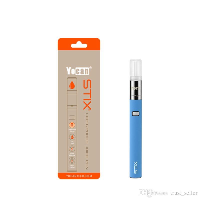 100% Vorlage Yocan Stix Vape Pen Kit 320mAh Leak Proof E Saft Vaporizer Starter-Kits mit Keramik-Coil Original