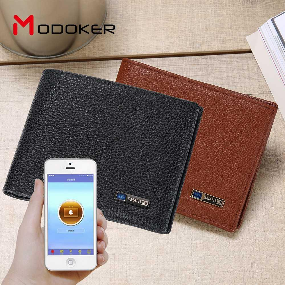 Modoker Smart Genuine Cowhide Purse with Bluetooth Tracking Anti-lost Stylish Men Wallet