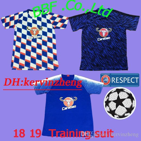 0470748a115 Thail Polo Shirt Soccer Jersey Premier League 18 19 Hazard Oscar ...