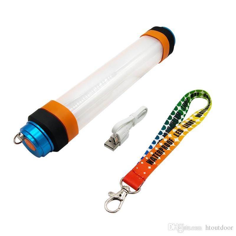 IP68 USB lampe de poche rechargeable lampe de camping en plein air 5500K + 580nm LED moustique tueur Repeller lumière pêche lumière de secours