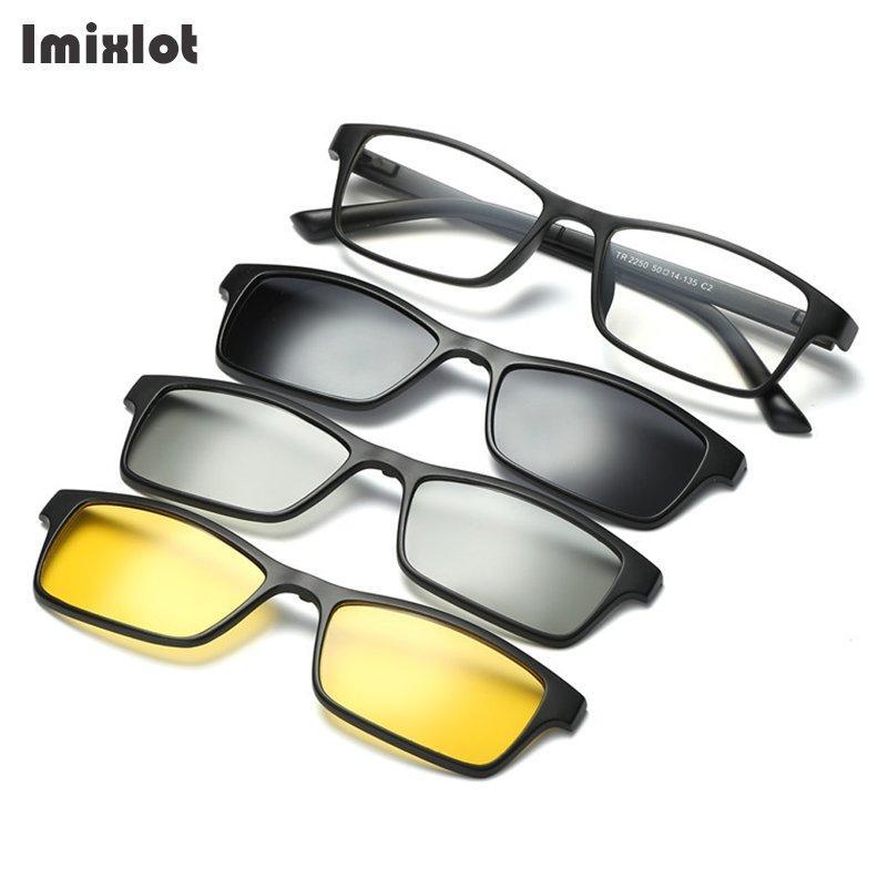 1438bc844a Wholesale Magnetic Eyewear Polarized Clip On Sunglasses Men Women 3D Clip  Lens Driving Sun Glasses TR90 Glasses Frame Victoria Beckham Sunglasses ...