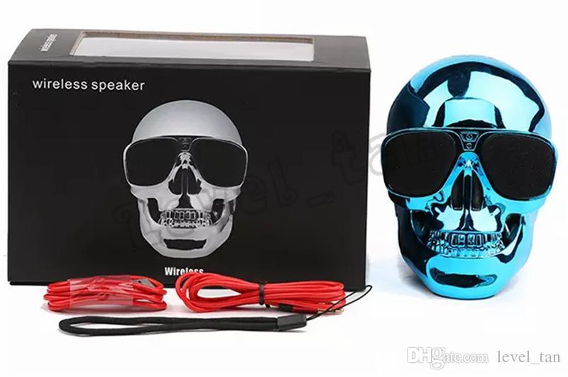 Portable Skull Bluetooth Speakers Skull Head Ghost Wireless Stereo Subwoofer Mega Bass 3D Stereo Hand-free Audio Player Mini Speaker