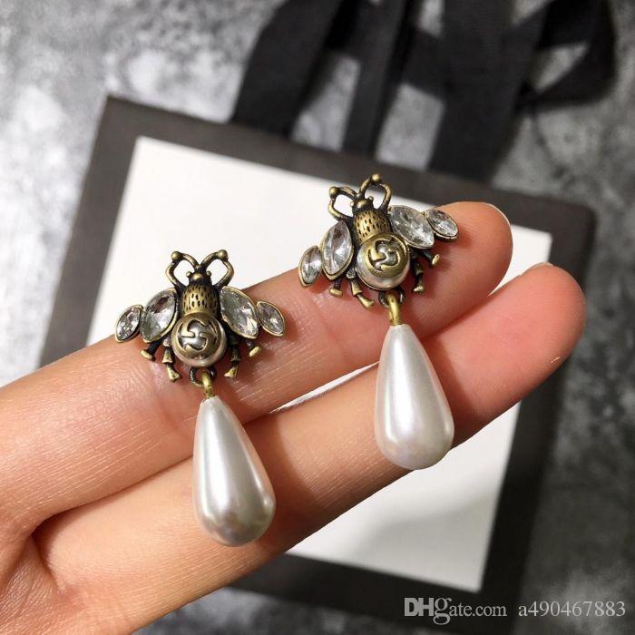 Mais recente Estilo de Cobre Brincos Bonito Forma de Ouro Antigo Brincos Para Casais Moda Mulheres Presentes