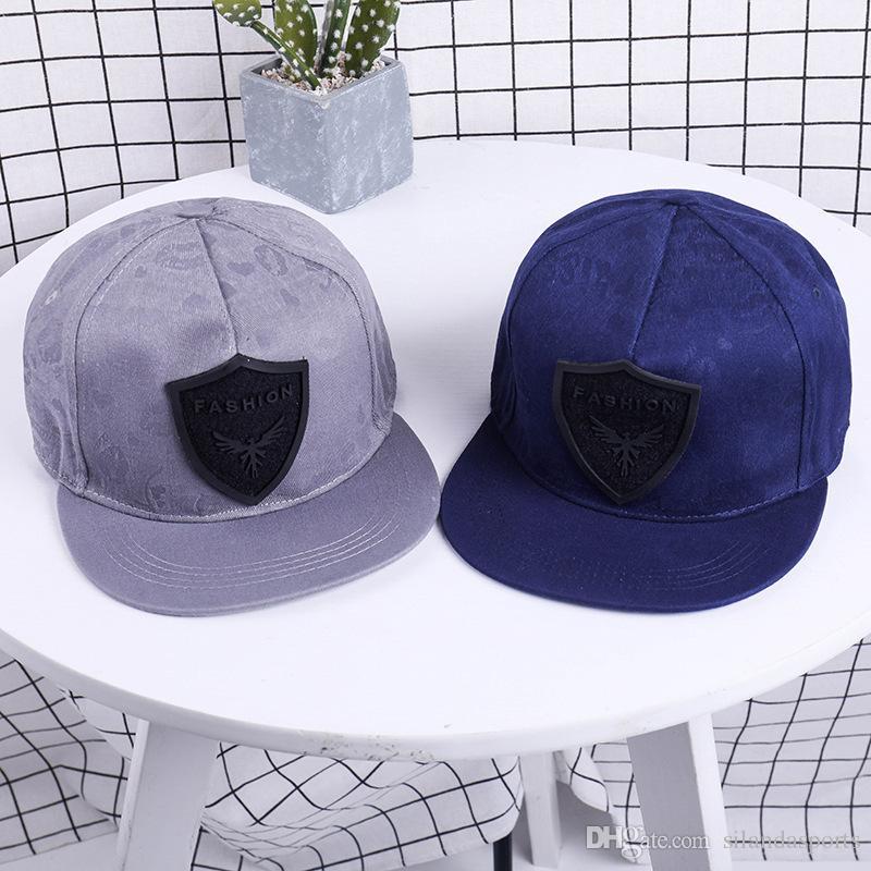 Unisex Leather Patch Hip Pop Hats Flat Peak Baseball Cap Snapbacks ... fd95f6a16ac