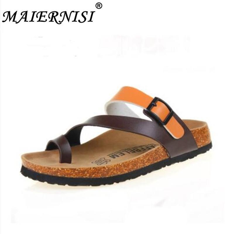 ecf993f4ac03 2019 Hot Sales Fashion Summer Cork Slipper Sandals Men Casual Beach ... dansko  sandals