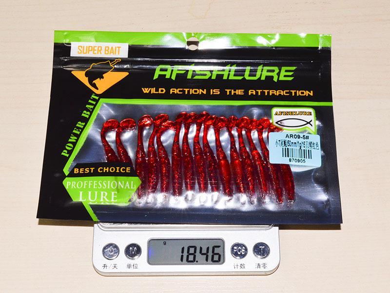 Pequeño T Cola Grubs Grubs Bait 5 cm 1 g 15 cm / lote Colorido Realista gusanos artificiales pesca señuelo