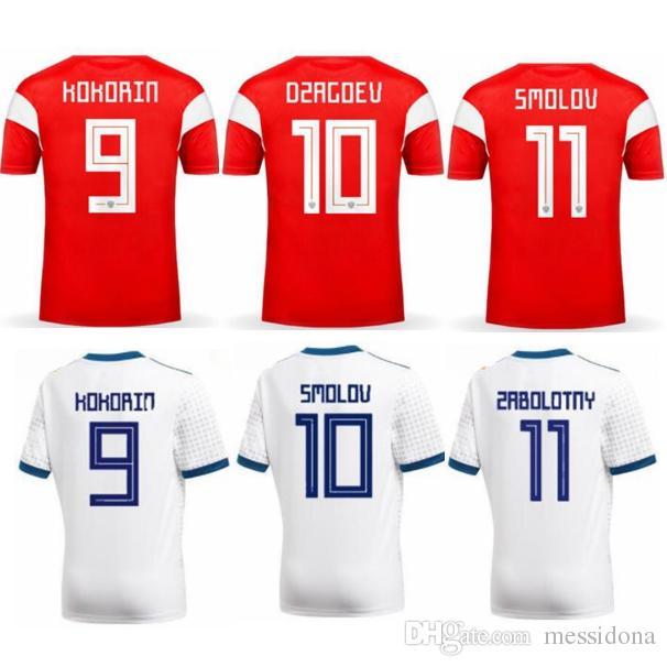 2018 RUSSIA KOKORIN DZAGOEV SMOLOV Home Away Thailand Quality Soccer ... ac3341802853f