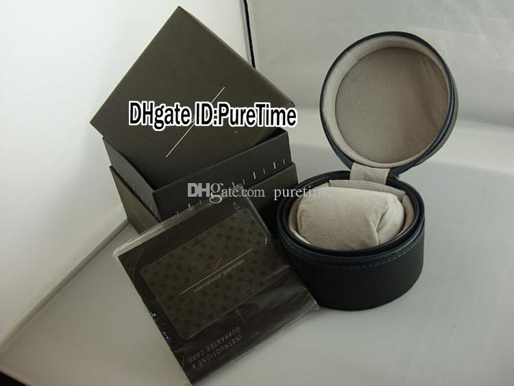 Hight Quality TAGBOX Gray Leather Watch Box Wholesale Mens Womens Watches Original Box With Certificate Card Gift Paper Bags Puretime