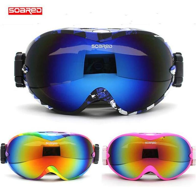 79cf06974b6 Compre SOARED Hombres Mujeres Gafas De Esquí Gafas Antideslizantes  Antideslizantes Para Nieve Deportes De Esquí Lente Transparente Alpinismo Espejo  De Motos ...
