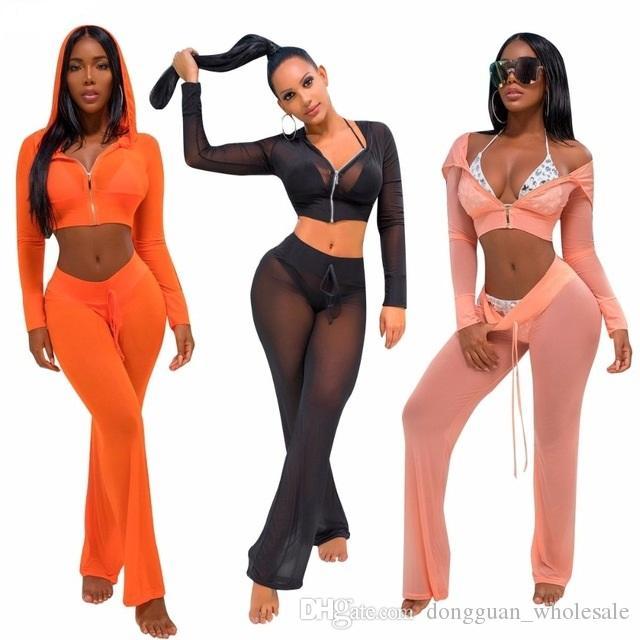 5ed10ef0d2af5 2019 See Through Bikini Cover Up 2018 Sexy Women Mesh Swimwear Bathing Suit  Cover Ups Saida De Praia Beachwear From Dongguan_wholesale, $15.82 |  DHgate.Com