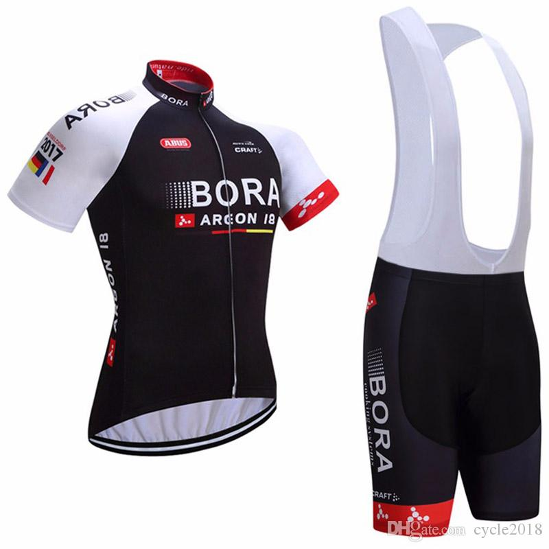 Hot Sale! BORA Team Cycling Jersey Anti UV Bib Shorts Set Maillot ... a90bb57de