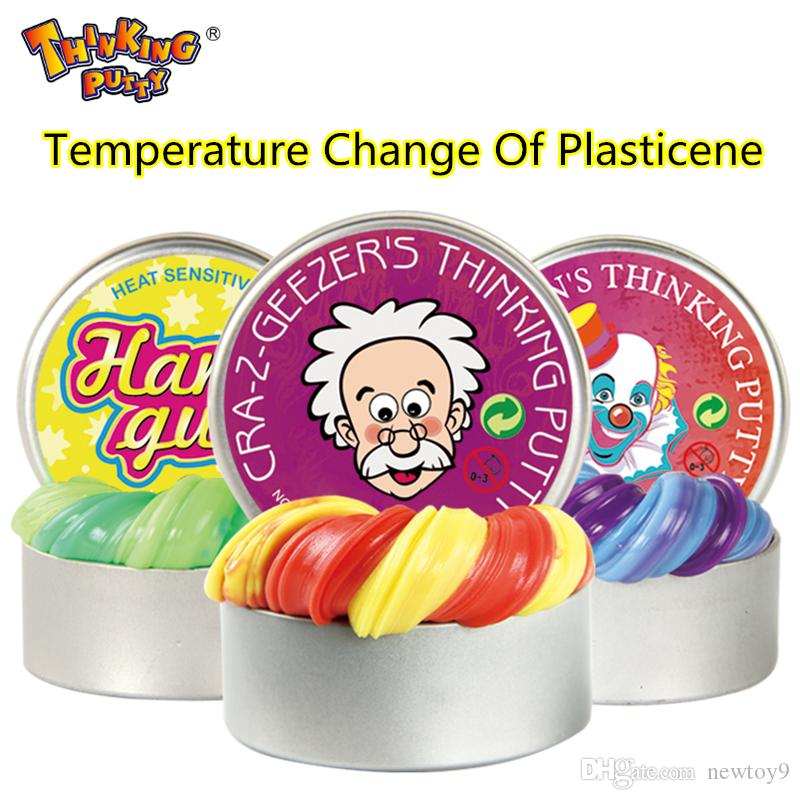 Thinking Putty Intelligent Creative Hand Gum Temperature Change Turns Color Slime Putty light Clay Fimo Plasticine Modeling Mud Doh Dough